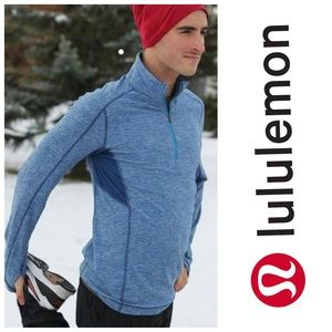 Lululemon 1/2 Zip Core Pullover in Heathered Blue